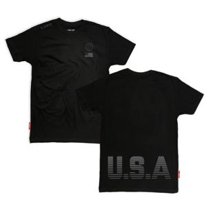 LIVE FIT USA Tee- Black