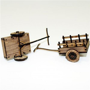 【予約発注】 Peasants Ox Carts 28-CAW-306