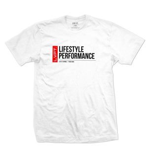 LIVE FIT Trademark Tee- White