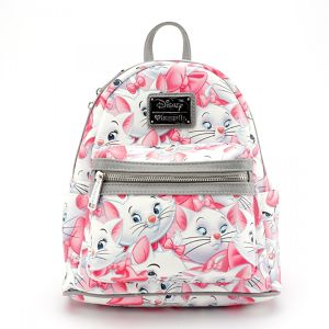 【LOUNGEFLY】 × DISNEY MARIE MINI FAUX LEATHER BACKPACK