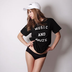 MUSIC AND BOOZE Tee(black)