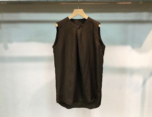 "theSakaki""Nosleeve Pullover Shirt Brown"""