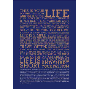 THIS IS YOUR LIFE フレーム  B (Navy−Limelight)
