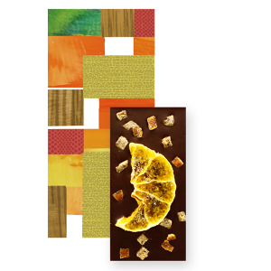 【Seasonal Tablet】Dark Chocolate with Citrus fruits mini Tablet