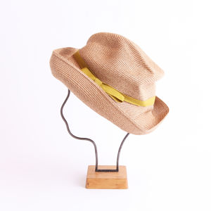 mature ha./BOXED HAT 101 mixbrown×light green