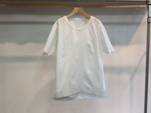 "theSakaki""theBang 織物 U/neck Short Sleeve White"""