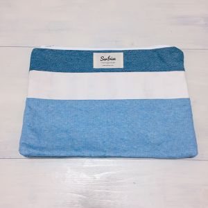 Denim clutch bag R16(Light Blue)