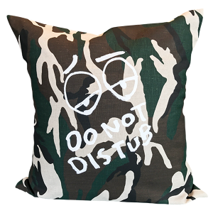 Do Not Distu(R)b Cushion - Camo Hemp