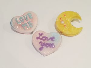 "cukr - ""love you / love me brooch"""