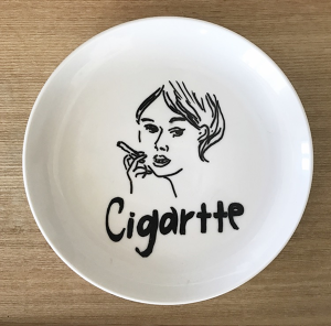 Woman with Cigarette plate