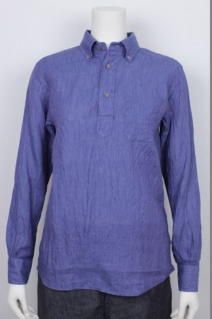 RE-MAKE POLO Canclini リネンシャンブレー  for Ladies 品番:271022 col.27 Indigo