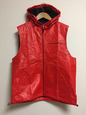 early2000's Racing polyethylene hooded vest