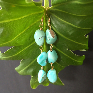 Mexico turquoise pierce earring