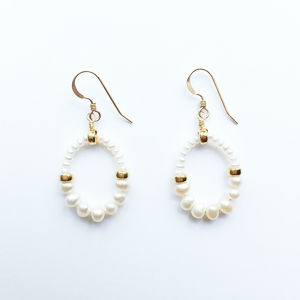GRACE Pierced Earrings|Fresh Water Pearl