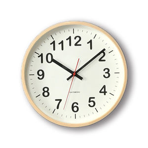 KATOMOKU plywood wall clock 2 km-42M