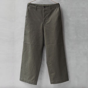 AURALEE WASHED FINX CHINO WIDE PANTS OLIVE