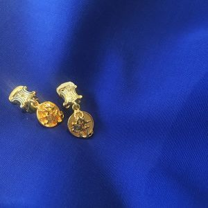 CELINE gold anchor earrings