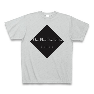 One Plus One Is One(1+1=1)TシャツB(ネガ)