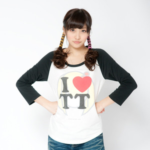 TT Raglan T-shirts(Black × White)