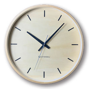 KATOMOKU plywood wall clock 5 km-50NRC 電波時計