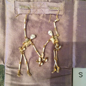 Vivienne Westwood ロンドン限定 007SPECTRE Skelton Earrings
