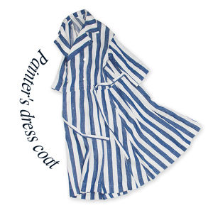 Painter's dress coat  [ Blue stripe]