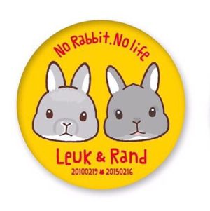 No Rabbit,No Life 缶バッチ