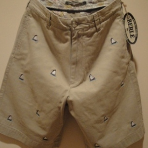"BERLE/バール USA | 【超特価SALE!!! 50%OFF】 EMBROIDERY CHINO SHORTS ""SAILBOAT"" KHAKI"