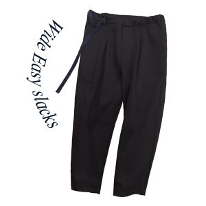 Wide Easy slacks [Navy]