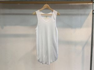 "30%OFF bukht""LONG TANK TOP WAFFLE WHITE"""