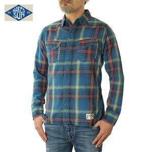 017003002(WESTERN CHECK SHIRTS)BLUE