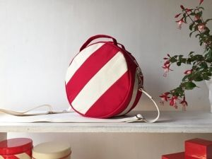 DOTLINE BAG | RED×ECRU