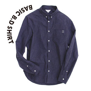 Basic B.D shirt [Navy]
