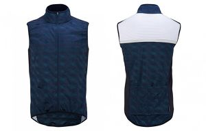 cafe du cycliste Jacqueline Blue / Lt.Weight Windproof Gilet