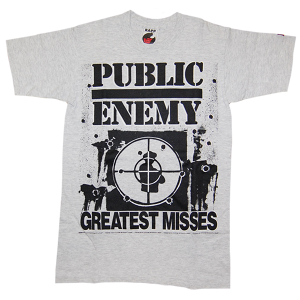 """Public Enemy / Greatest Misses"" Vintage Rap Tee Used"