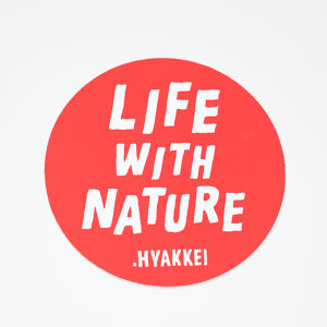 .HYAKKEI sticker【LIFE WITH NATURE<Red>】