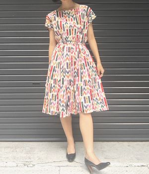 vintage colorful one-piece