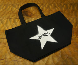 STENCIL STAR Mini Tote Bag Black
