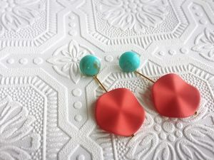 【R3026】turquoise × mat red