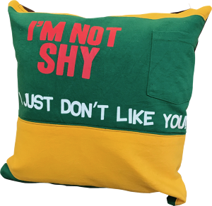 "CUSHION COVER "" I don't like you! """