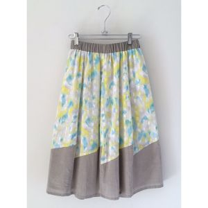 Water color skirt / 水彩ギャザースカート