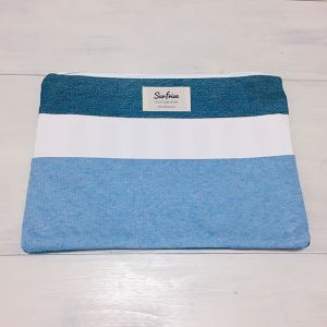Denim clutch bag R17(Light Blue)