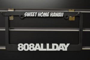 808ALL DAY(3colors) Licence plate frames
