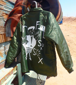 ROFLxSUXSOX BOA COACH JACKET GREEN