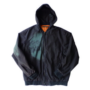 A0240_Bleach & Dyed Hood MA-1_Black