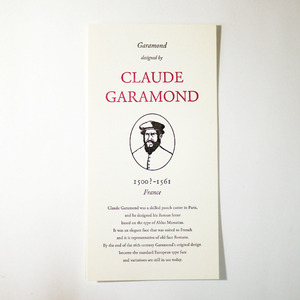 GREAT TYPE DESIGNERS SERIES CLAUDE GARMOND