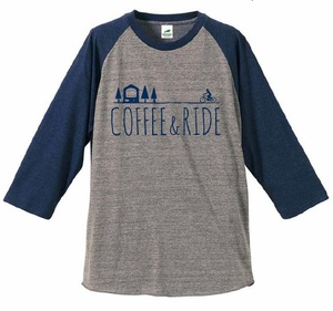 COFFEE & RIDE T-shirt(three quarter sleeve)