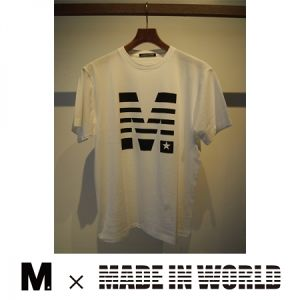 MADE IN WORLD☆ / crew neck t-shirts (M x MADE IN WORLD☆) white