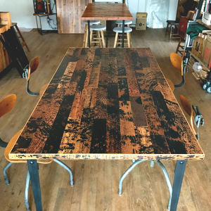 - One of a Kind -  Reclaimed Table Top  < Dripping >