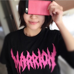 DEATH MARRION Tシャツ(黒×ピンク)